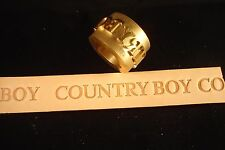 "Leather Embossing Machine Roll Solid Brass  ""Country Boy""  Design"