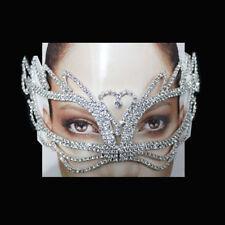 Crystal Rhinestone Eye Mask Royal Venetian Masquerade Wedding Bridal Prom Party