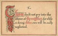 Arts Crafts Neighbors Affairs saying artist impression 1907 Postcard 20-3815