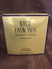 New Elizabeth Taylor White Diamonds Body Radiance Perfumed Body Powder 2.6 oz