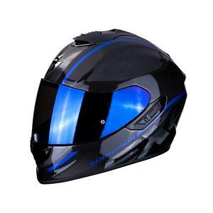 Casco Helm Casque Helmet Scorpion Exo 1400 Air Carbono Grand Azul TALLA XS