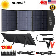 120W Portable Solar Panel System Kit USB DC Laptop Battery Power RV Car Charge