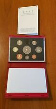 More details for royal mint proof set. red deluxe leather box 1993 birthday gift coin year set.