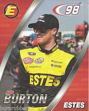 "2016 JEB BURTON ""ESTES BIAGI DENBESTE"" #98 NASCAR XFINITY SERIES POSTCARD"