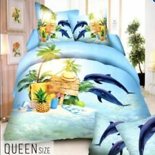 Celebrity Collection Queen Size 3D Bedding Set of 3 - Dolphin Design