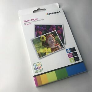 "Polaroid Premium Gloss Photo Paper 6x4"" 50 Sheets 220gsm"