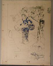 Dessin Original Encre EDOUARD GOERG (1893-1969) La Belle et Le Loup. EG3.