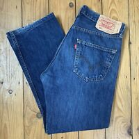 Levis Strauss 501 W32 L30 Straight Leg Medium Blue Stone Wash Button Jeans