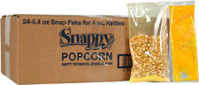 SNAPPY POPCORN PORTION PAKS for 4 oz POPPERS CASE of 24 - Movie Theater Taste