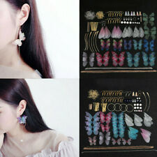 DIY Earrings Jewelry Making Kit Supplies Handmade Colorful Butterfly Wing Craft