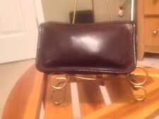 Dark Brown Large Vintage Cosmetic Coach Make Up Bag