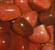 Goldstone marrón Rojo tumblestones 20-30 Mm X 10!! Oferta