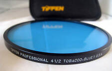 "4 1/2"" Tiffen Tobacco Blue 1 Glass Filter 4.5"" Filters 4.5"