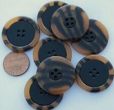 Marrón Oscuro Grueso 2 agujero Abrigo botones de 28mm y 33mm