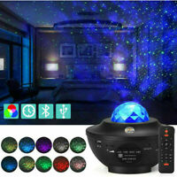 USB Galaxy Star Night Lamp LED Starry Sky Projector with Ocean Wave Light T3T4