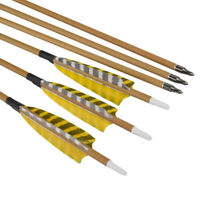 Feather Carbon Arrows Spine 500 Wood Camo Shaft - Archery Outdoor Target Hunting