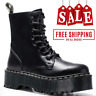 New Women Leather Heeled Boots Shoes Smooth US Size Doc Eye Top qualty 2020 7 8