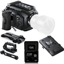 Blackmagic Design URSA Mini 4K EF with V-Mount Plate, Shoulder Kit, and Battery