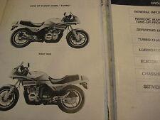 Molto RARO ORIGINALE Officina Manuale Suzuki xn85 Turbo Service Manual XN 85