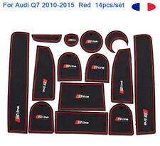 14 x Teppich Gummimatten Lagerplatz Antirutsch für Audi Q7 2010-2015 logo S LINE