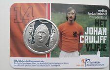 Soccer COIN  Johan Cruyff    coincard 5 Euro    Johan Cruijff  UNC   Free s/h