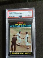 1971 Topps Frank Robinson World Series #329 PSA 7