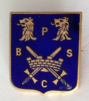 PSBC Bowling Club Badge Pin Rare Vintage Crossed Swords UK (M19)
