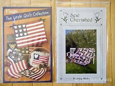 2 PATRIOTIC Quilt Patterns LITTLE QUILT COLLECTION - FLAGS, FLOATING STARS