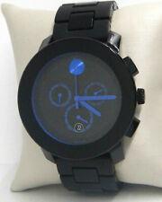 MOVADO BOLD 43MM BLACK/BLUE CHRONOGRAPH MEN'S WATCH 3600101 $750.00