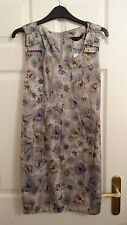Dorothy Perkins Grey Butterfly Print Tunic Top Size 14 New