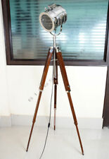 Floor Lamp Woodern Tripod Stand Nautical Designer Wooden Lamp Base Without Lamps