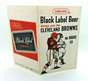 1963 Cleveland Browns Football Club Schedule Carling Black Label Beer #AE