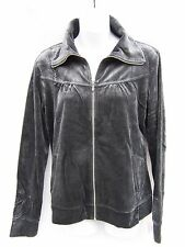 Style & Co. Sport Women's Heather Gray Velour Jacket Size Small NWOT
