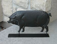 PIG Hog Weathervane Style STATUE*Primitive/French Country Farmhouse Barn Decor