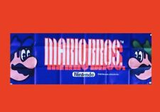 Large Mario Brothers Arcade Video Game Banner Flag Poster