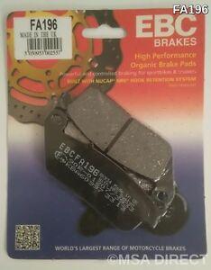 Victory Magnum (2015 to 2017) EBC Organic REAR Disc Brake Pads (FA196) (1 Set)