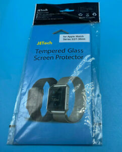 JETech Tempered Glass Screen Protector for Apple Watch Series 3/2/1 38mm 2PK
