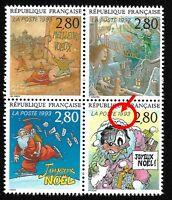 """Timbres France Neufs 1993 Variété N°2847a """"Point entre 1 et 9 de 1993"""""""