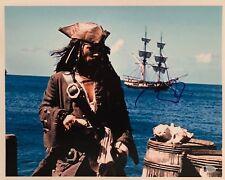 Johnny Depp Signed Pirates Of The Caribbean 11x14 Photo BAS Beckett D72295