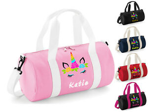 Personalised Dance Bag Girls Kids Unicorn Pink Ballet Gymnastics Gym Kit