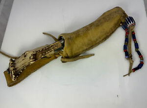 Antique I. Wilson Skinning Knife w/ Stag Handle and Leather Sheath