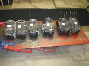 Husqvarna vintage 4speed cases 6 total sold as lot 250 360 400cc models