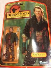 Robin Hood Prince Of Thieves Action Figure 1991 Will Scarlett MIP Christian Slat