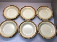 6 Vintage Mikasa Whole Wheat Rimmed Soup Cereal Pasta Bowls