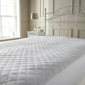 Extra Deep Topper Luxury Mattress Protector Dual Layer Bed Fitted Cover Sheet