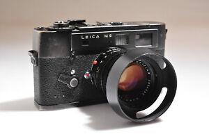 Leica M5 Leitz Wetzlar Germany Camera Body w/Leitz Summilux 1.4/50mm Lens