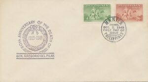 PHILIPPINES 1949 50th Anniversary of the Death of General Gregorio del Pilar FDC