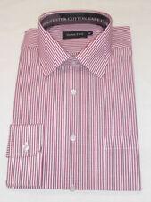 Regular Striped Cotton Blend Long Men's Formal Shirts