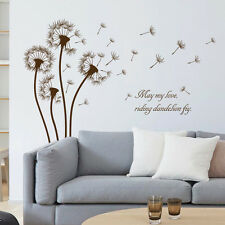 Dandelion Flower Fly Wall Sticker Decal Art Transfer Graphic Stencil Vinyl Home