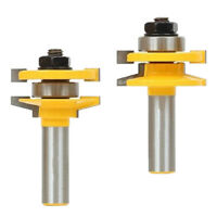 2PCS 1/2'' Shank Rail and Stile Router Bits Ogee Woodworking Milling Cutter Tool